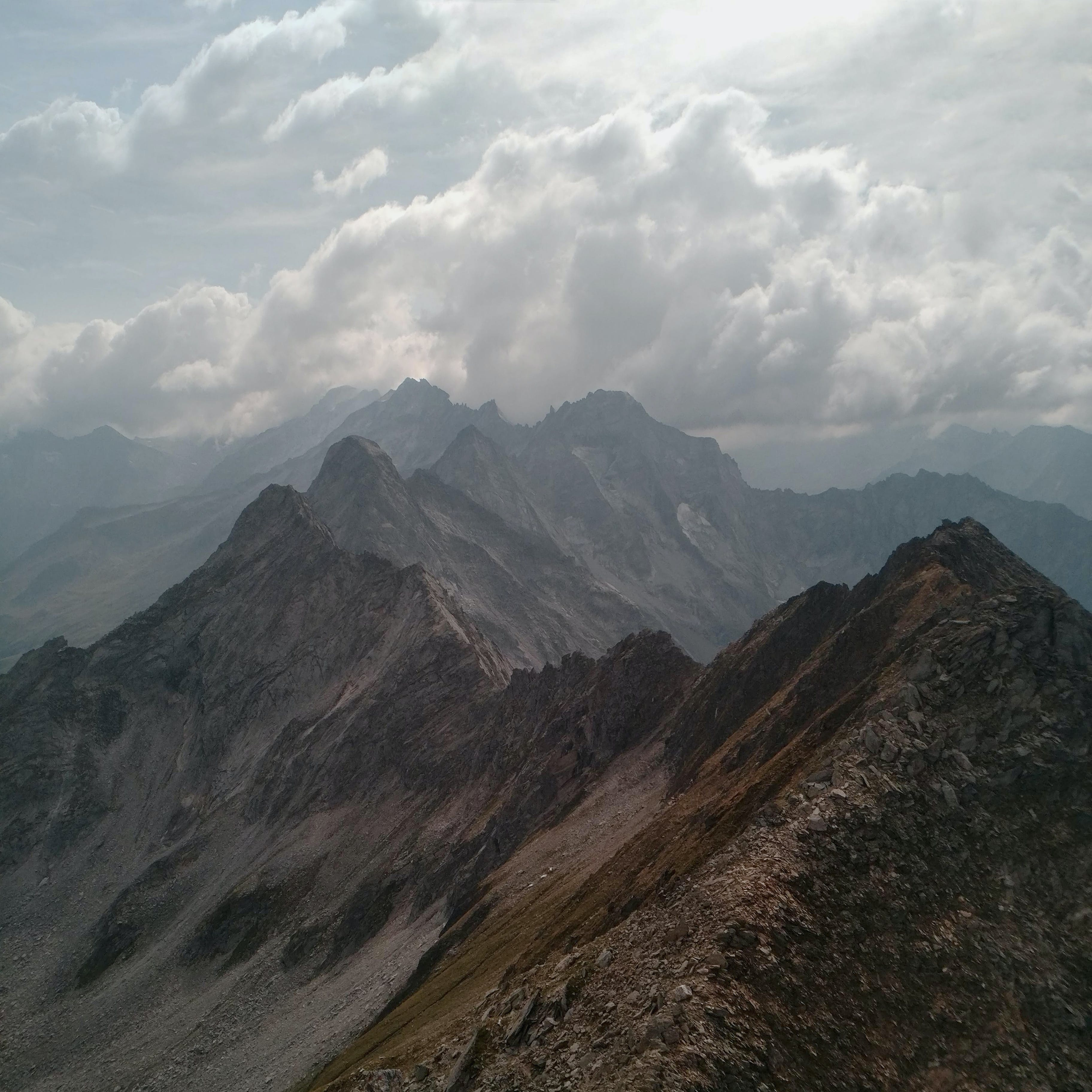 Brown and Gray Mountain