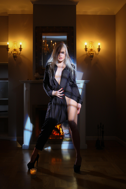 Woman in Black Robe