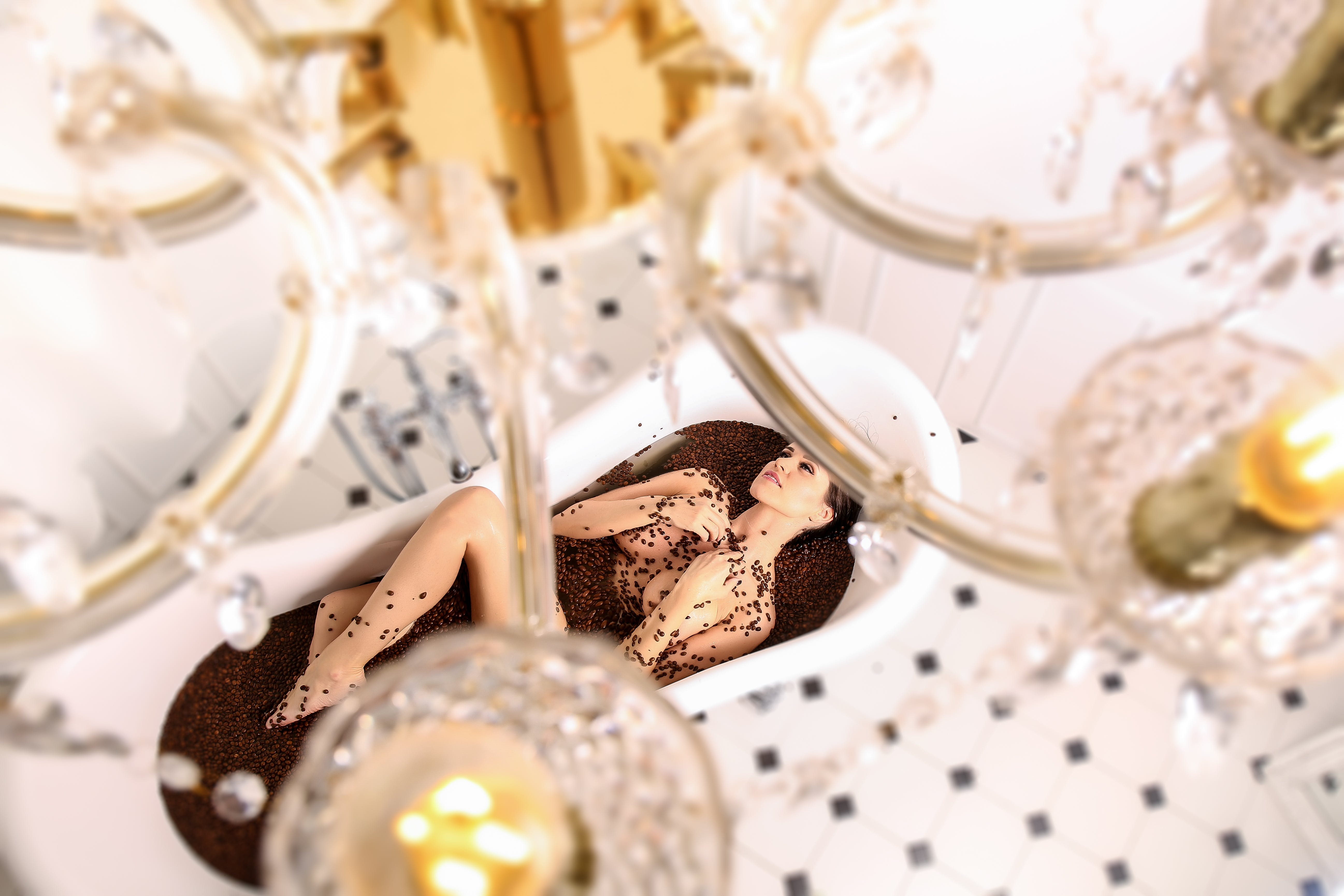 Kostenloses Stock Foto zu glas, schokolade, dekoration, stillleben