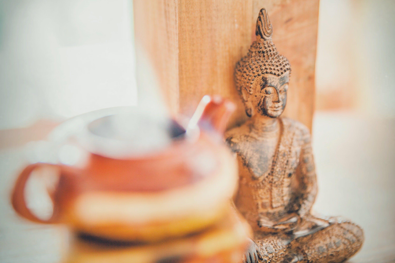 barva, buddha, čaj
