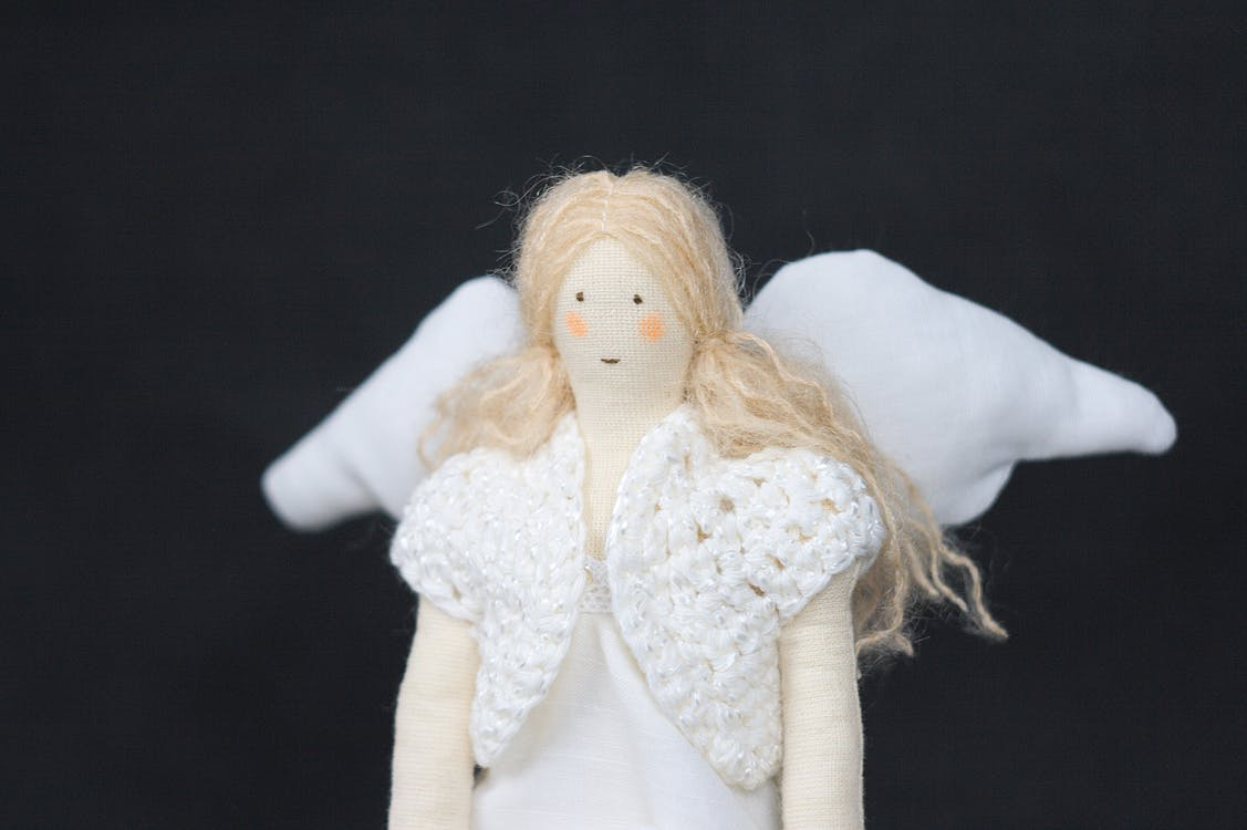 dukke, engel, håndlavet