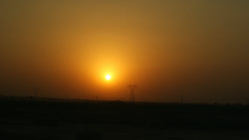 Free stock photo of electric tower, iraq, nature, sun
