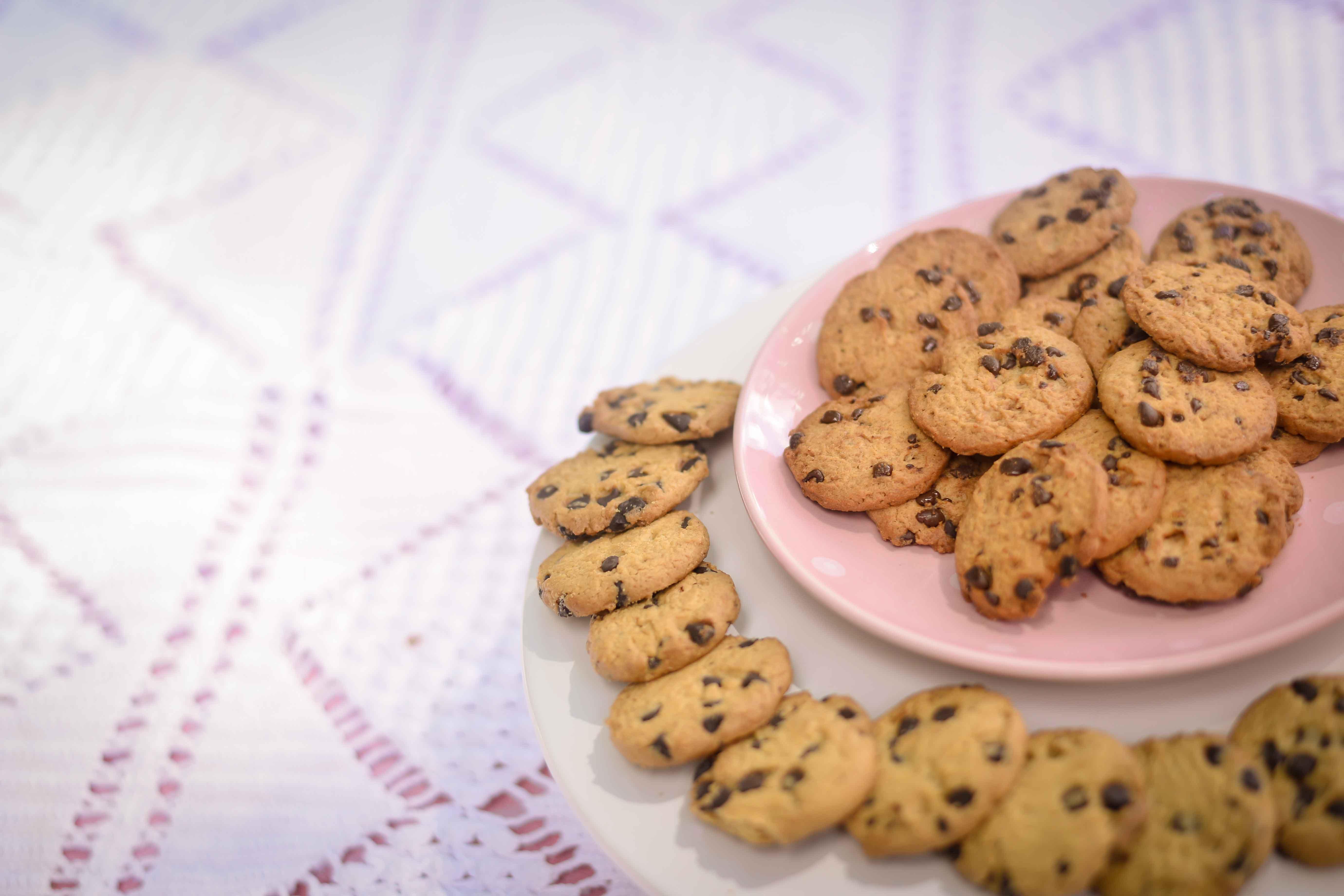 Cookies in Ceramic Plates