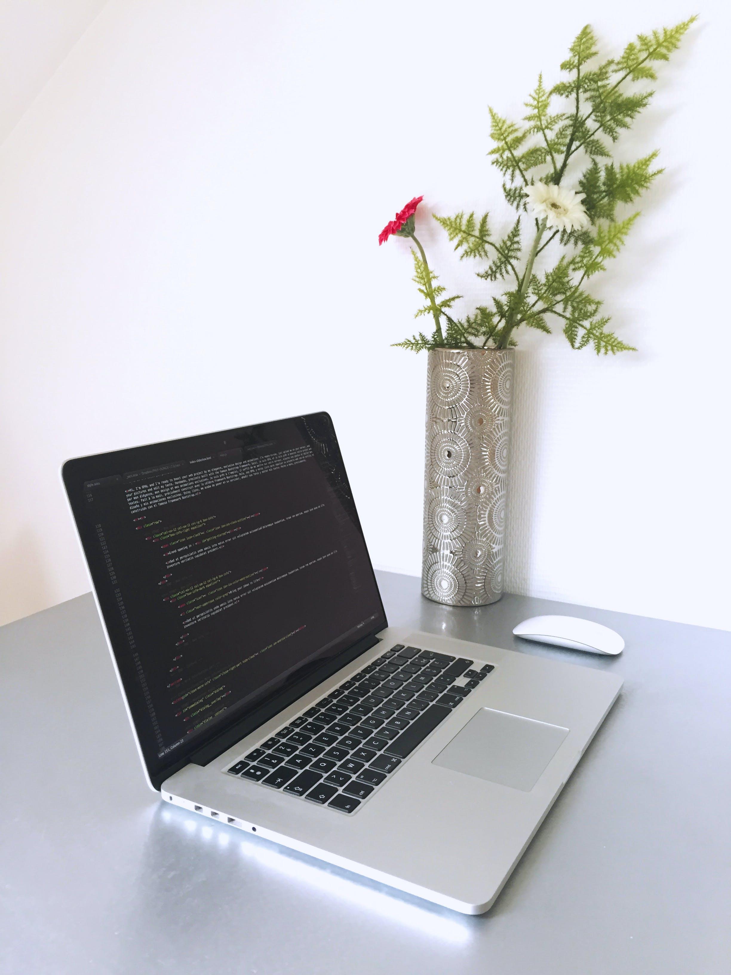 kod, kodowanie, laptop