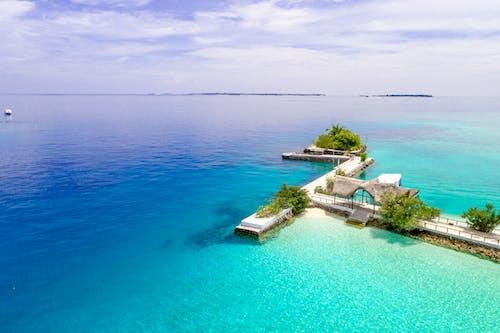 土耳其藍, 天氣, 天空, 岸邊 的 免费素材照片