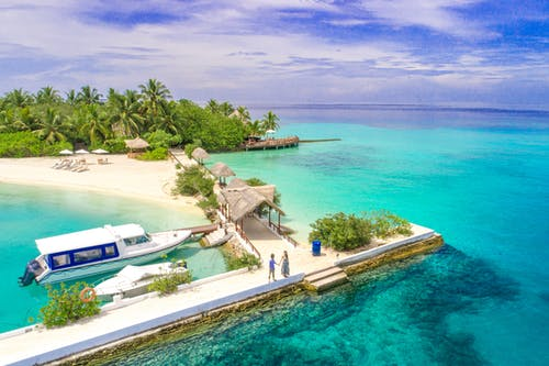 High Angle Photography of Islet Beach Resort