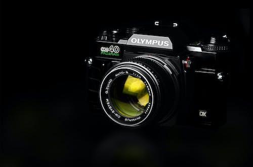Black Olympus Slr Camera