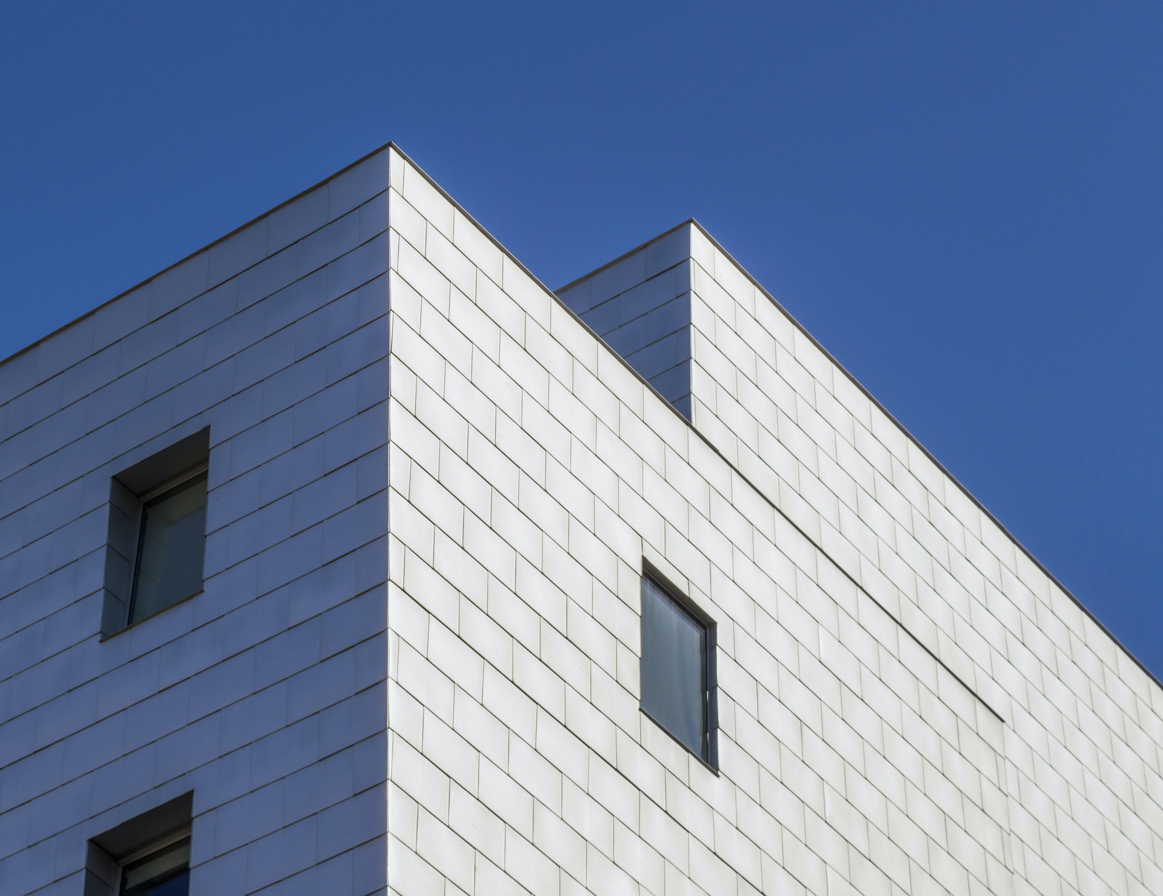 Worm's Eye View Photography of White Concrete Building