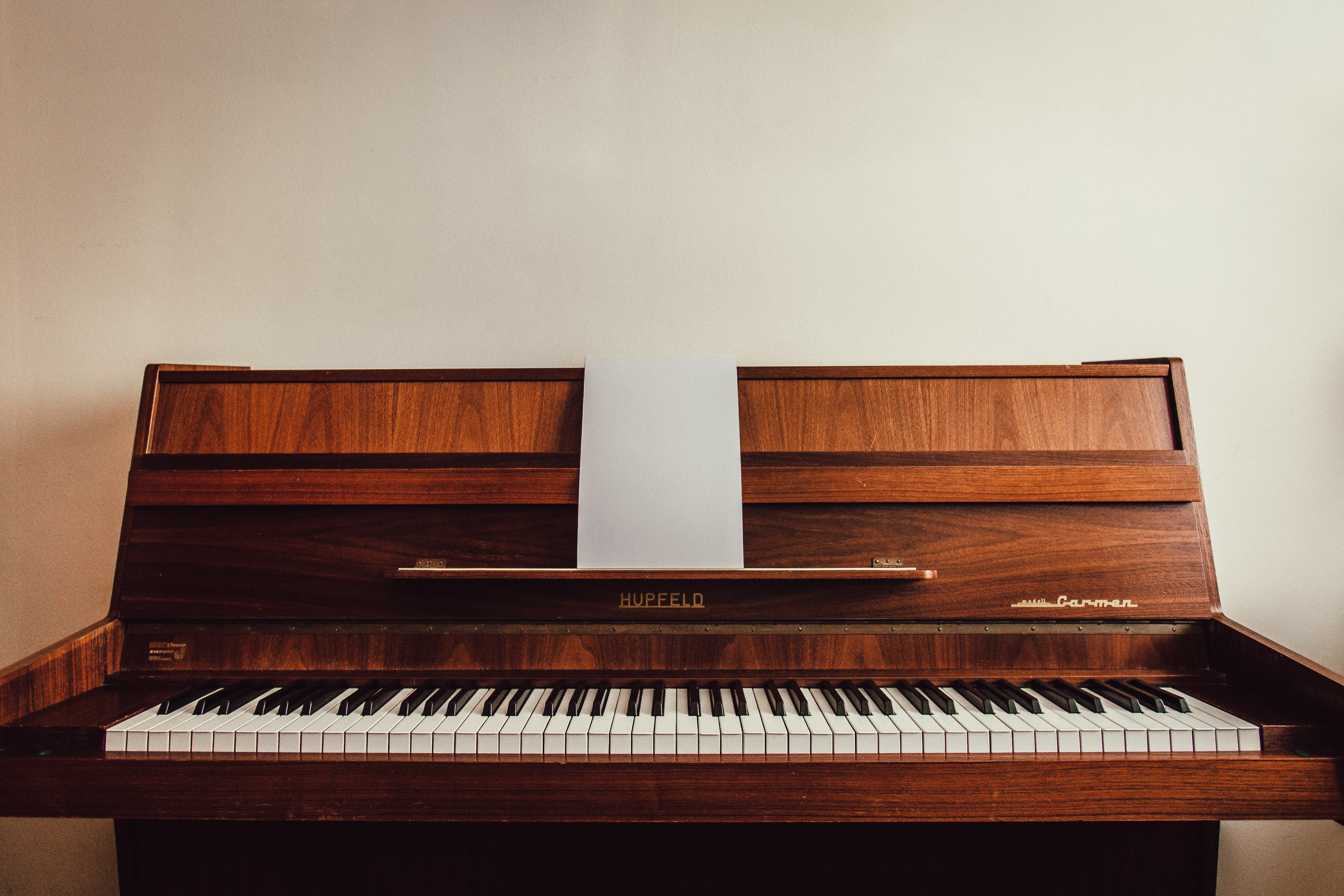 Brown Upright Piano Free Stock Photo