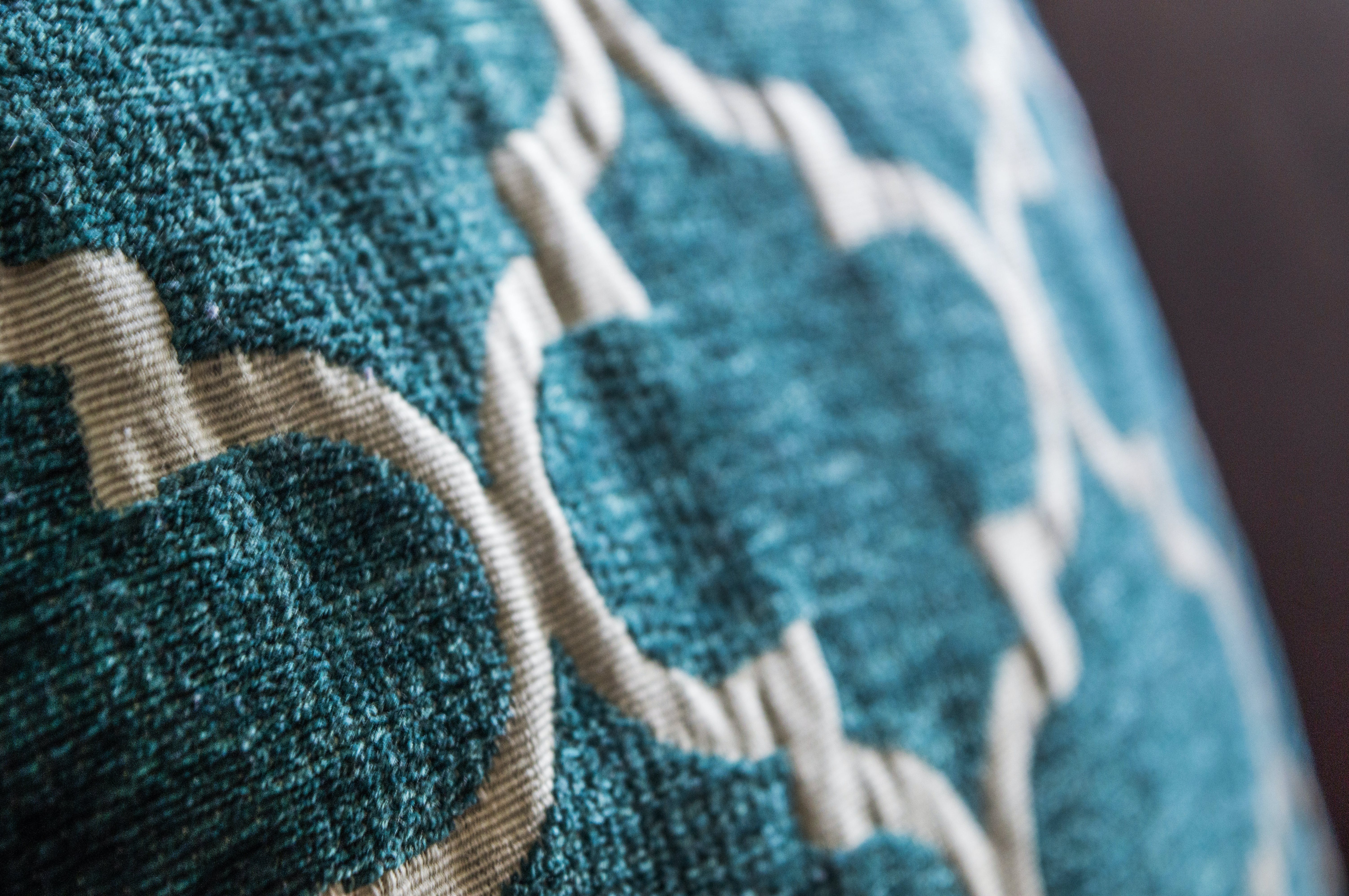 Teal and White Moroccan-style Cloth