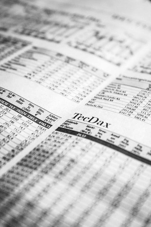 Free stock photo of black-and-white, newspaper, stock exchange, stock market