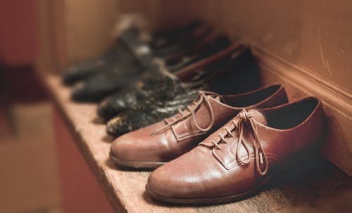 Close-Up Photography of Brown Leather Shoes