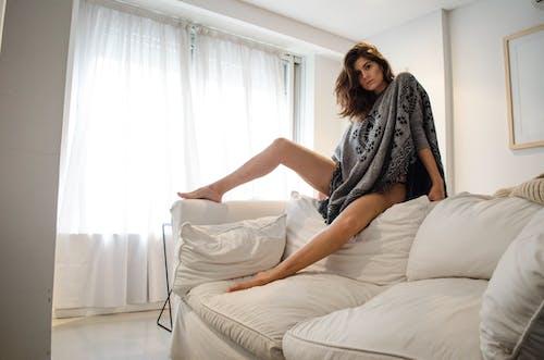 Fotos de stock gratuitas de adentro, almohadas, asiento, atractivo