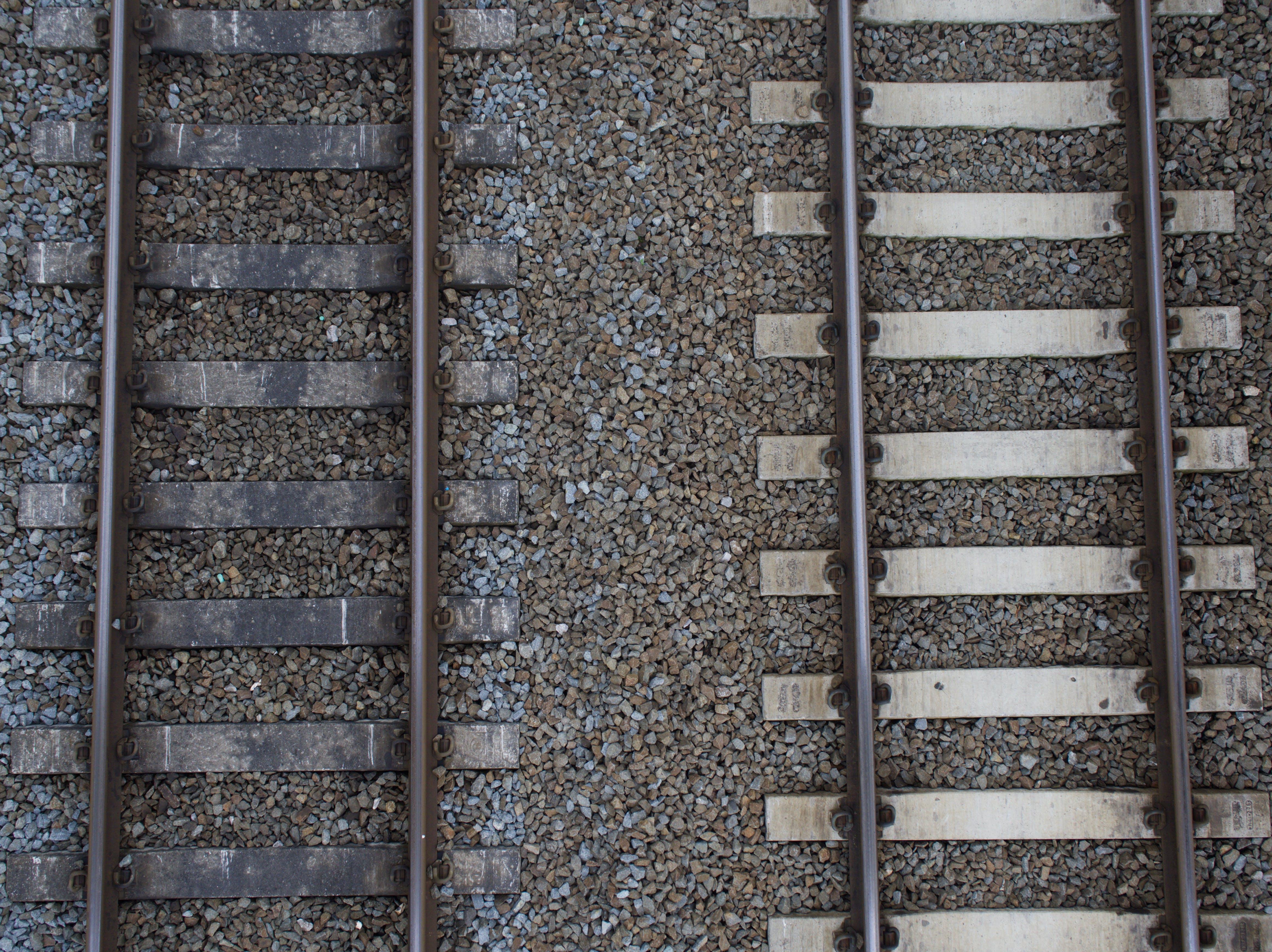Free stock photo of railway, top view, tracks