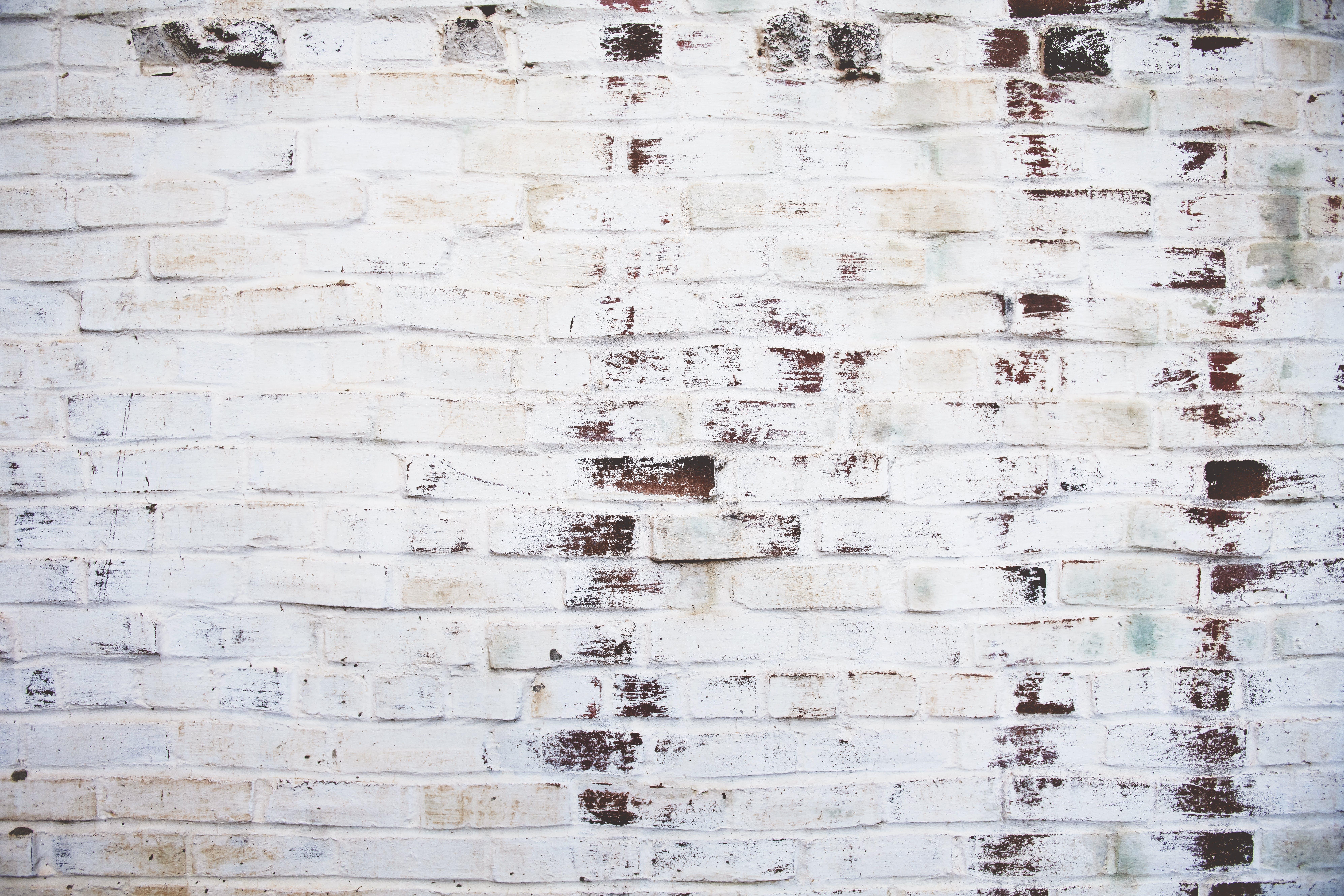 beskidt, mursten, murstensvæg