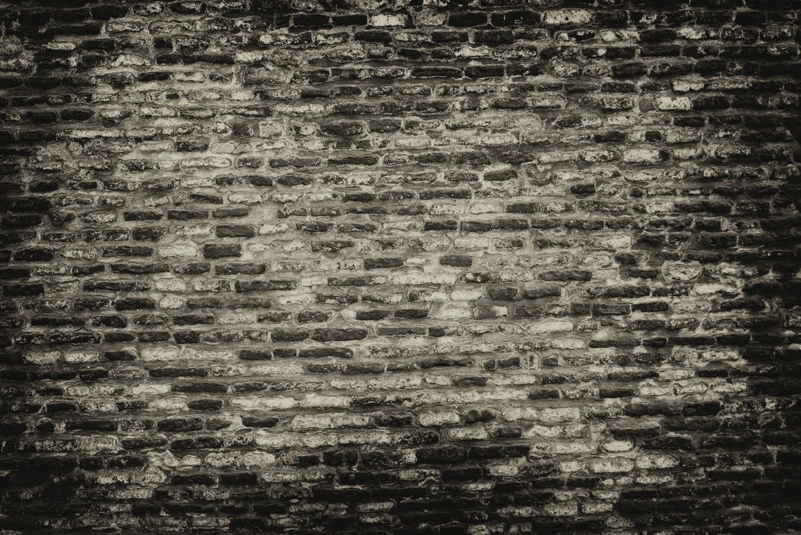 beton, ceglana ściana, cegły