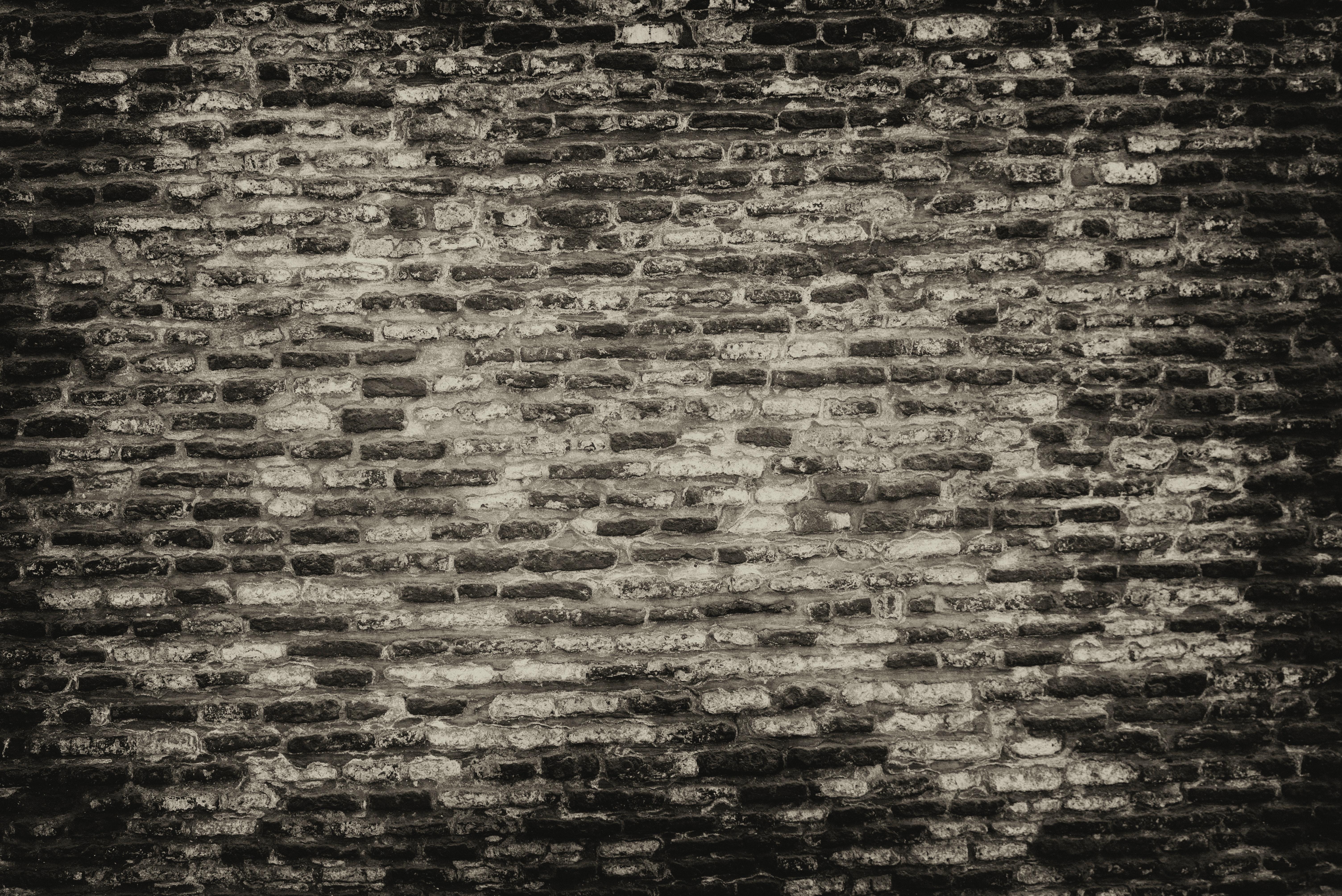 White concrete brick wall wallpaper rawpixel com grayscale photo of brickwall frans van heerden