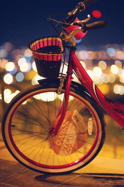 Close-Up Photography of Bicycle