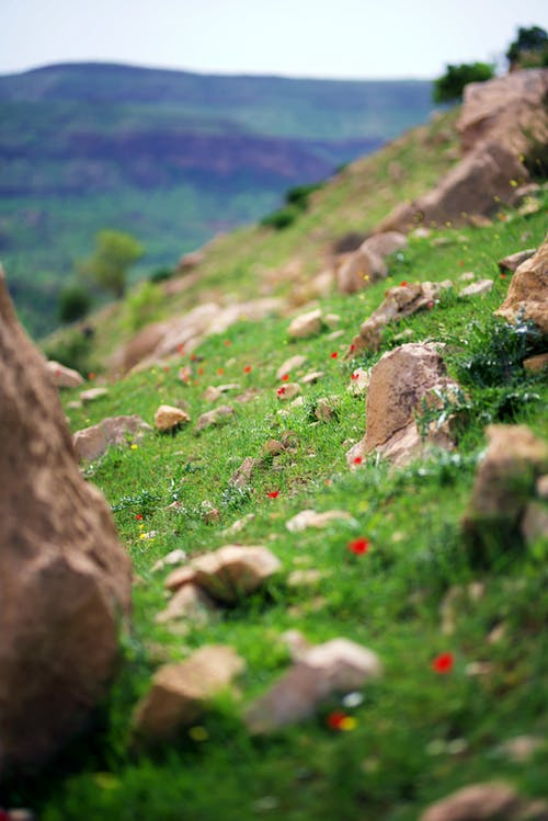 Darmowe zdjęcie z galerii z góra, głębia pola, kamienie, krajobraz