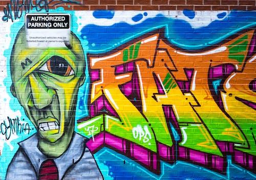 artistik, barbarlık, canlı, duvar içeren Ücretsiz stok fotoğraf
