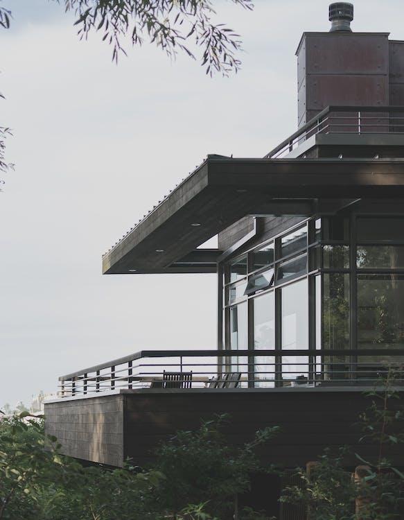 architektonický, architektura, balkon