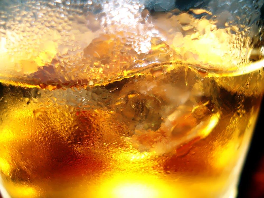 dricksglas, dryck, ljus