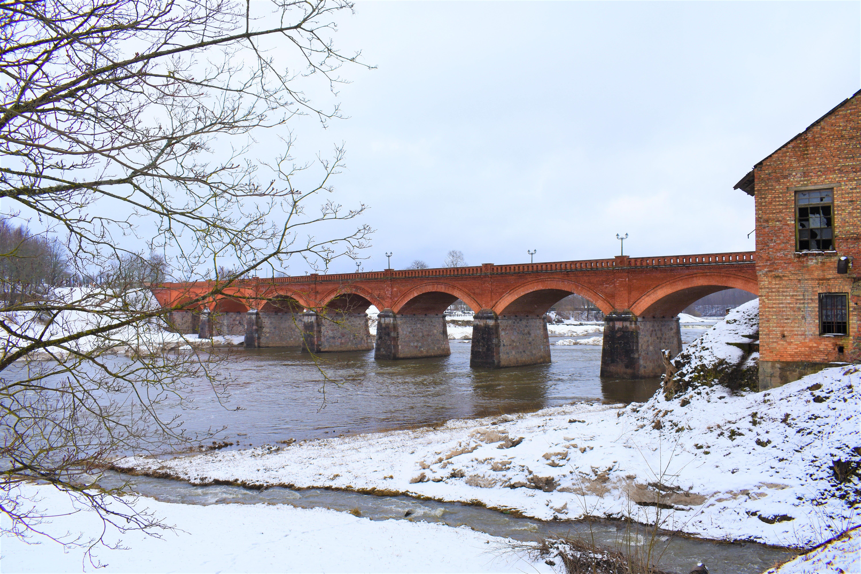 Free stock photo of bricks, bridge, cold, frozen river