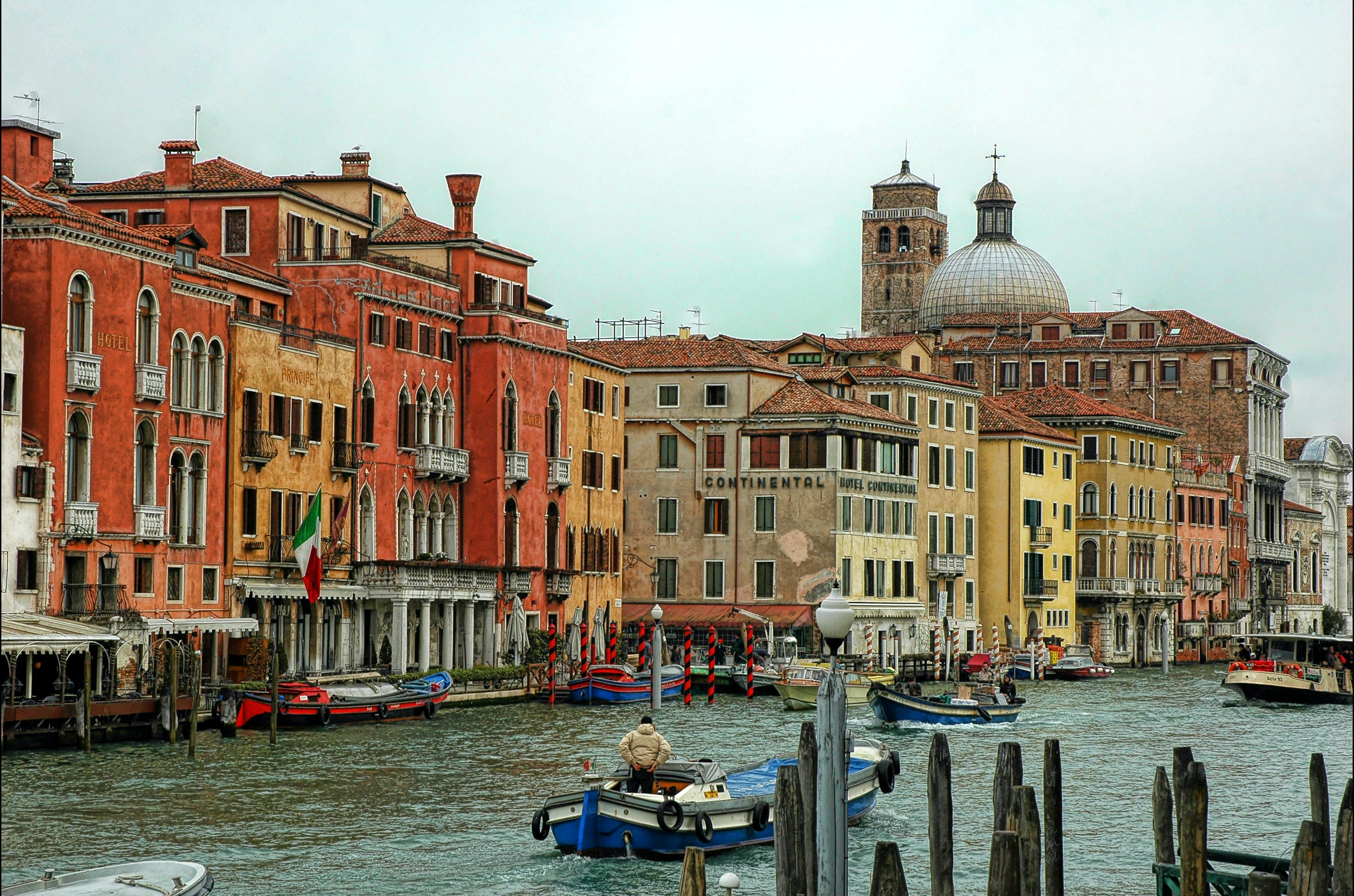 Free stock photo of boats, canal, city, grand canal