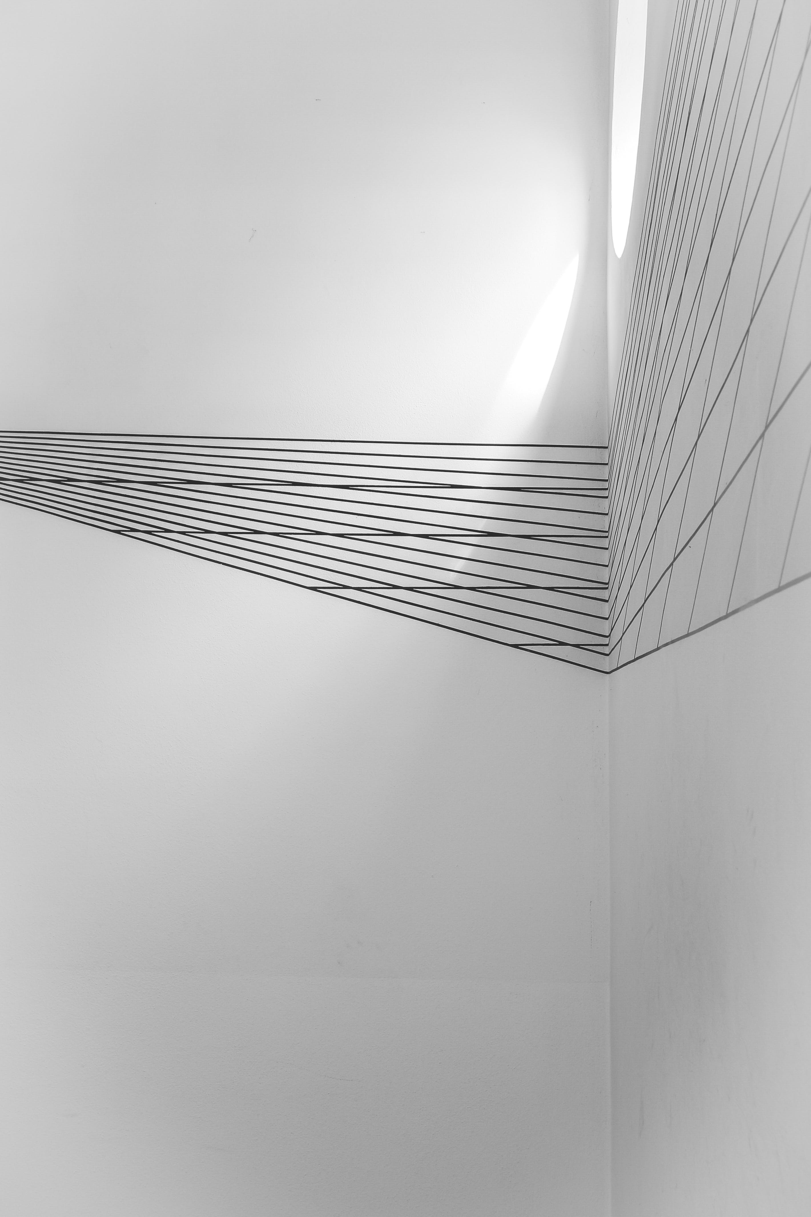White Black Lined Wall