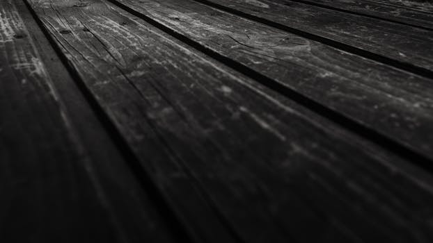 Monochrome Photography Of Wooden Planks