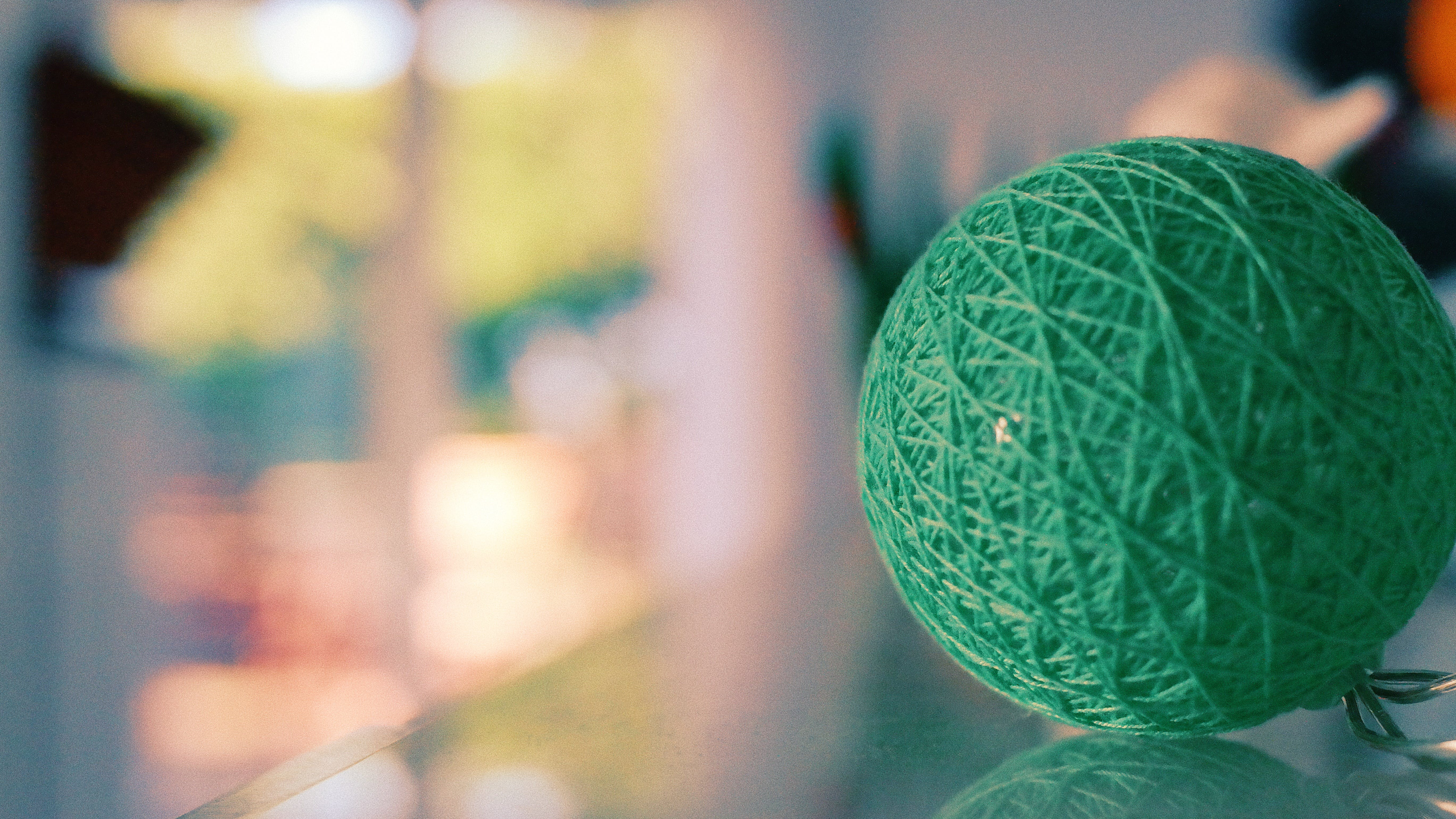 Close-Up Photography of Green Yarn