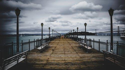 Δωρεάν στοκ φωτογραφιών με Bay Bridge, αποβάθρα, απόγευμα, αρχιτεκτονική