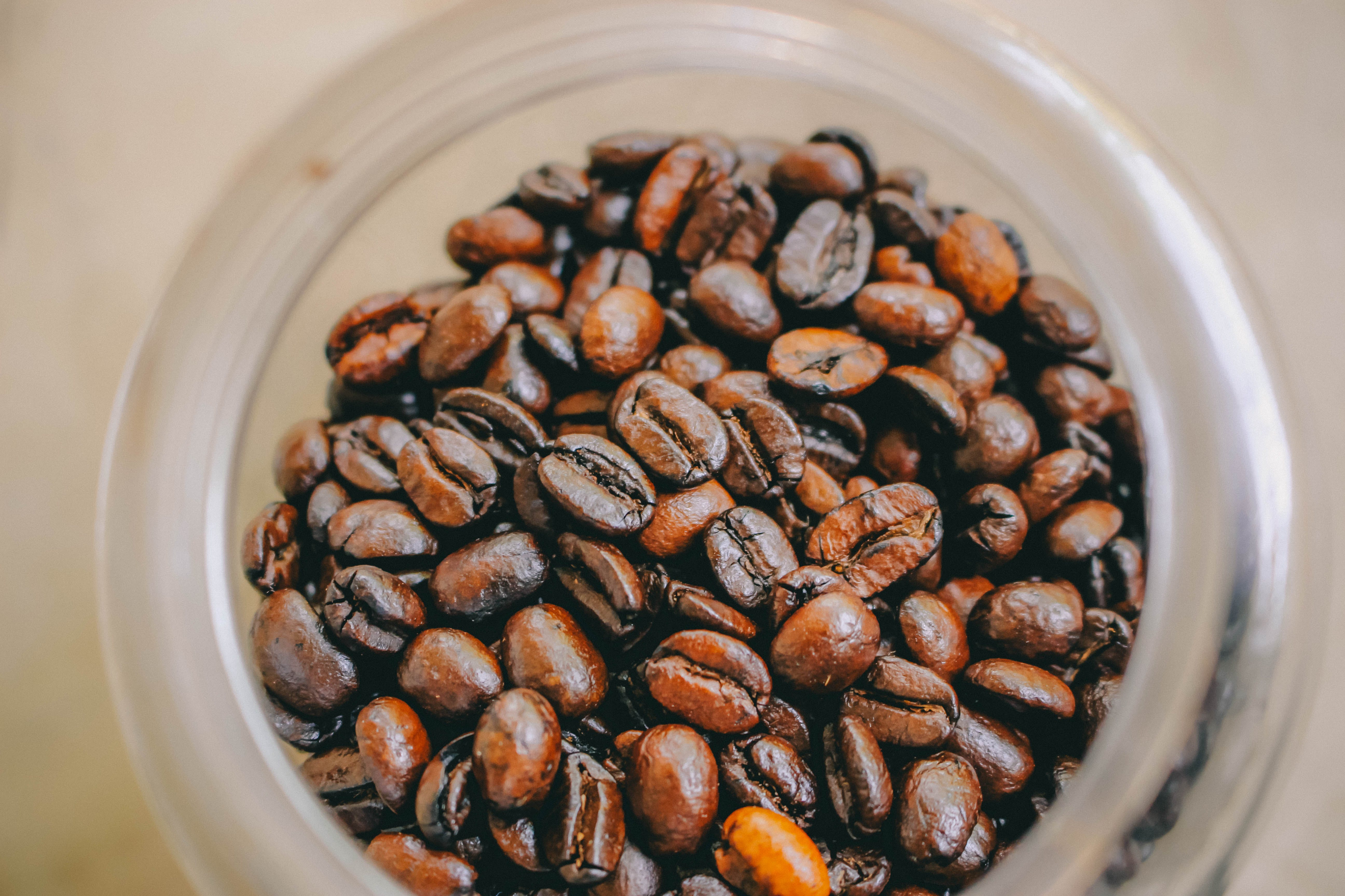 Photo of Brown Coffee Beans Inside Clear Glass Jar