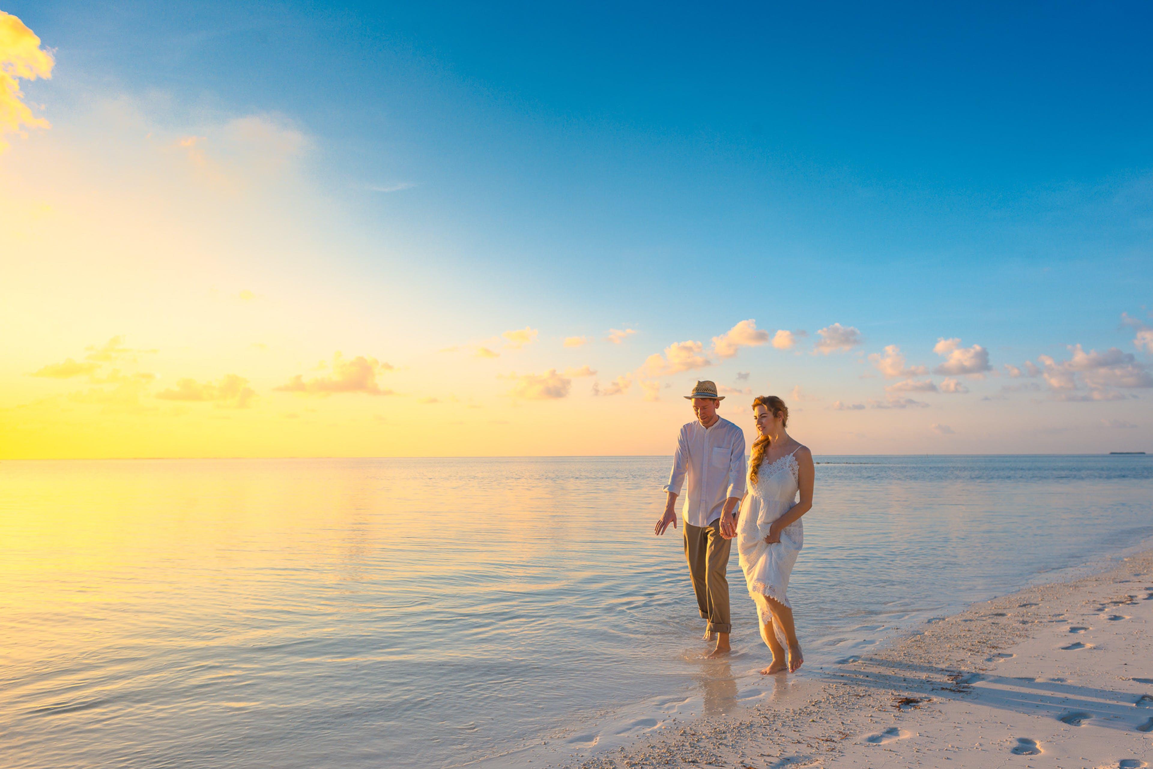 Kostenloses Stock Foto zu meer, dämmerung, sonnenuntergang, strand