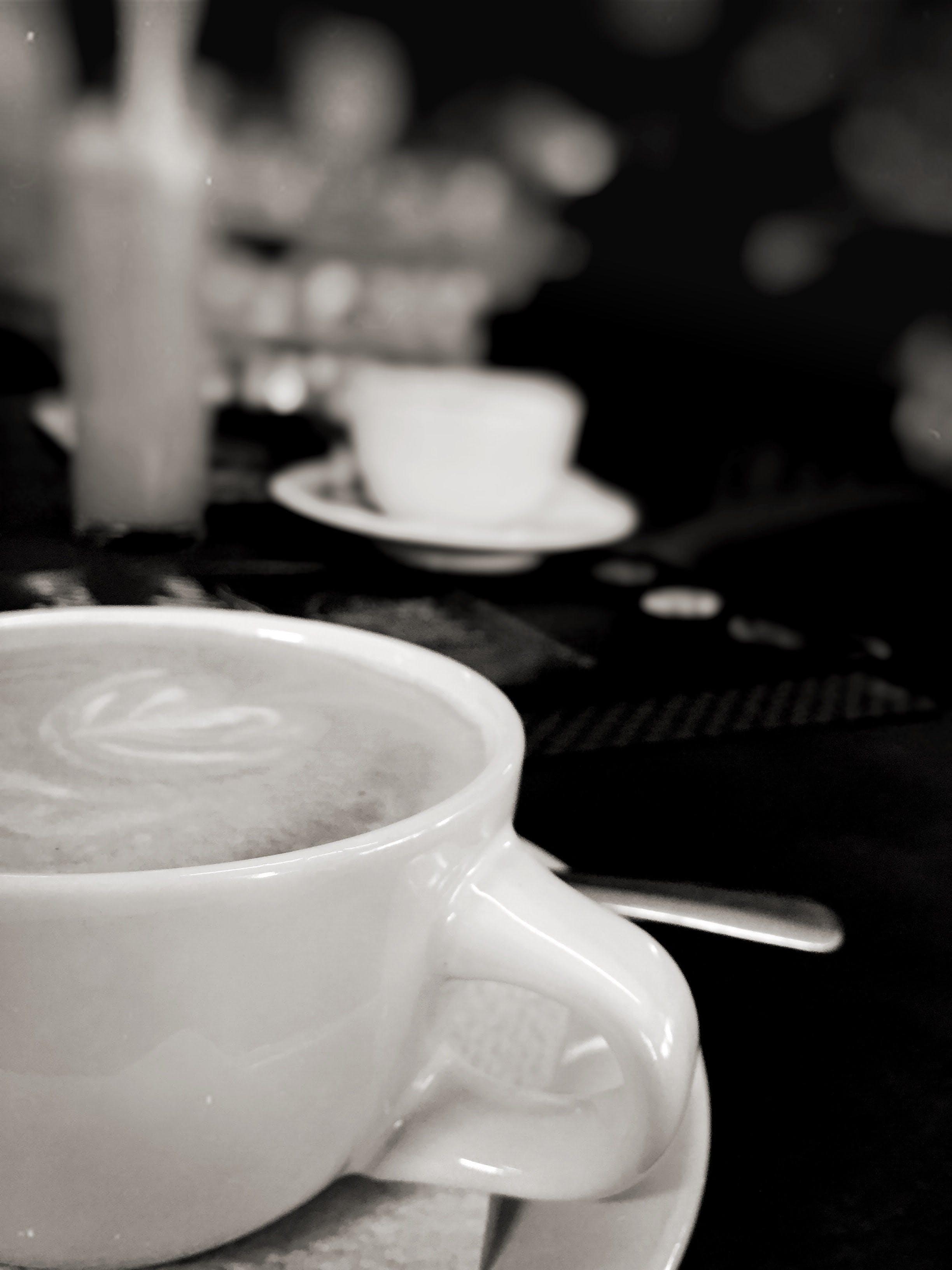 Free stock photo of black and white, café, coffee, espresso