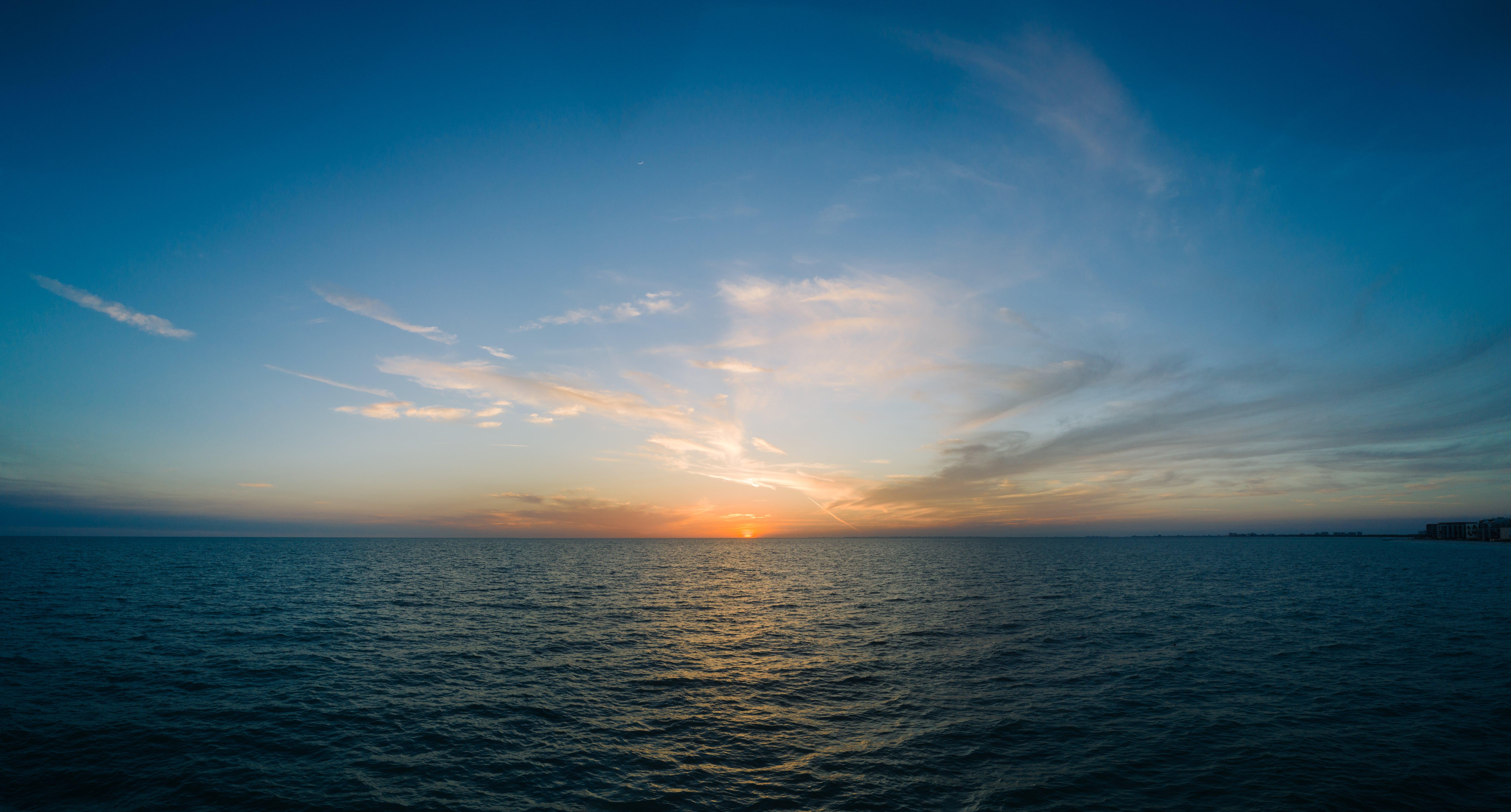 Foto d'estoc gratuïta de aigua, blau, calma, capvespre