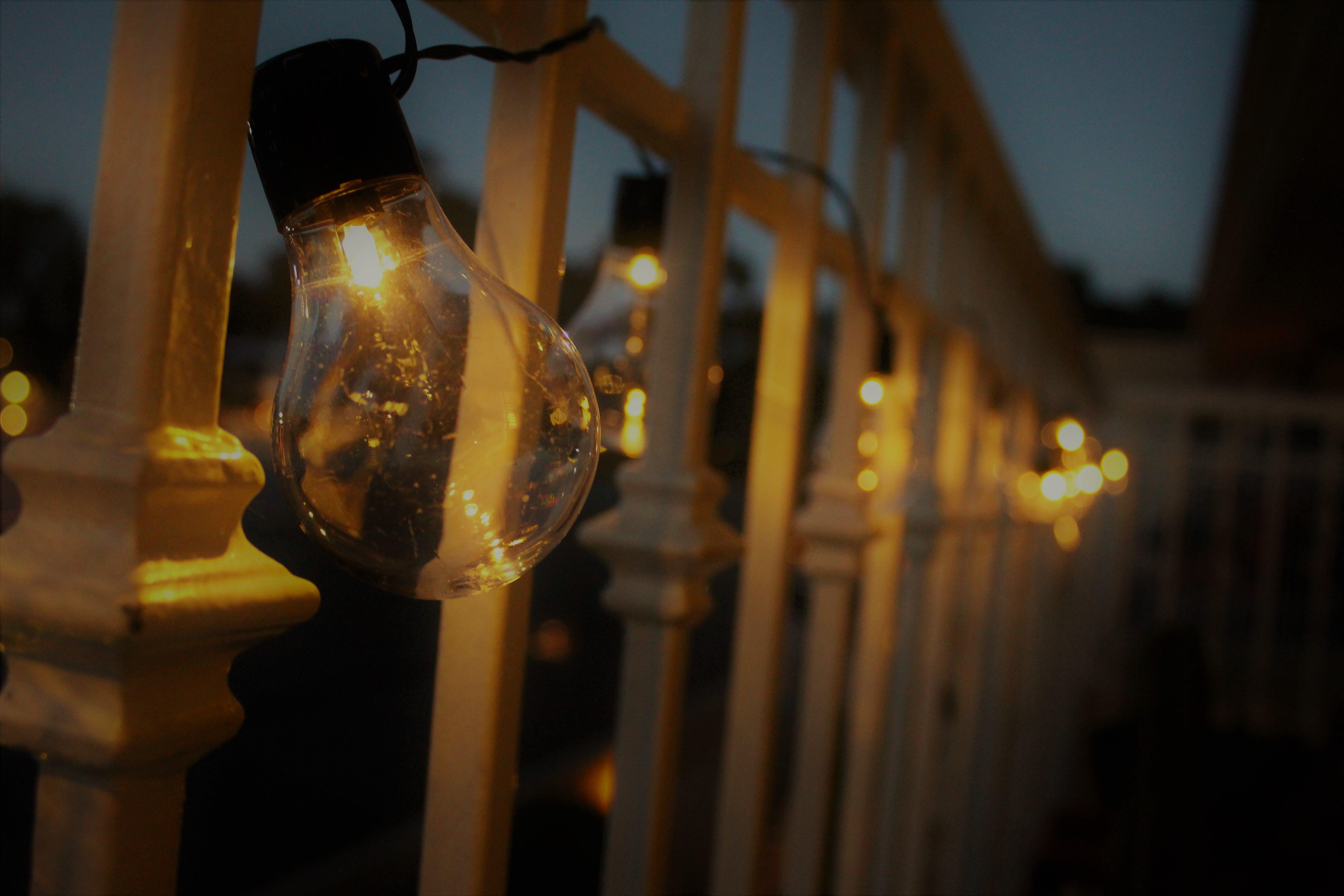 Kostenloses Stock Foto zu licht, beleuchtung, abend, elektrizität