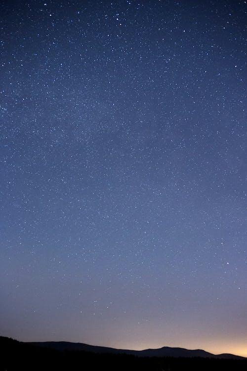밤, 별, 실루엣, 하늘의 무료 스톡 사진