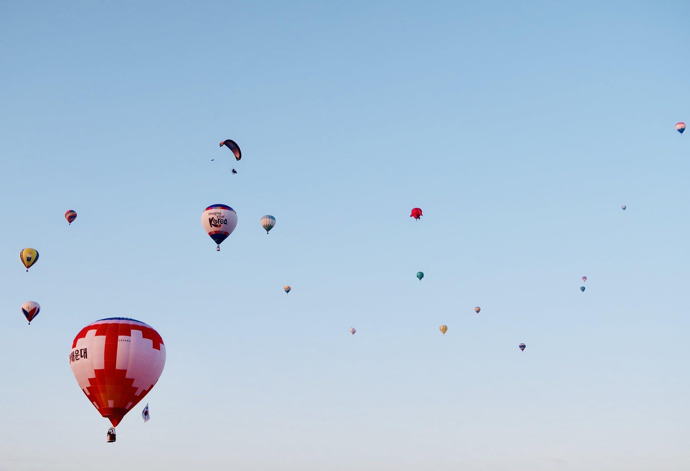 Ingyenes stockfotó ballon, ég, ejtőernyő, hélium témában