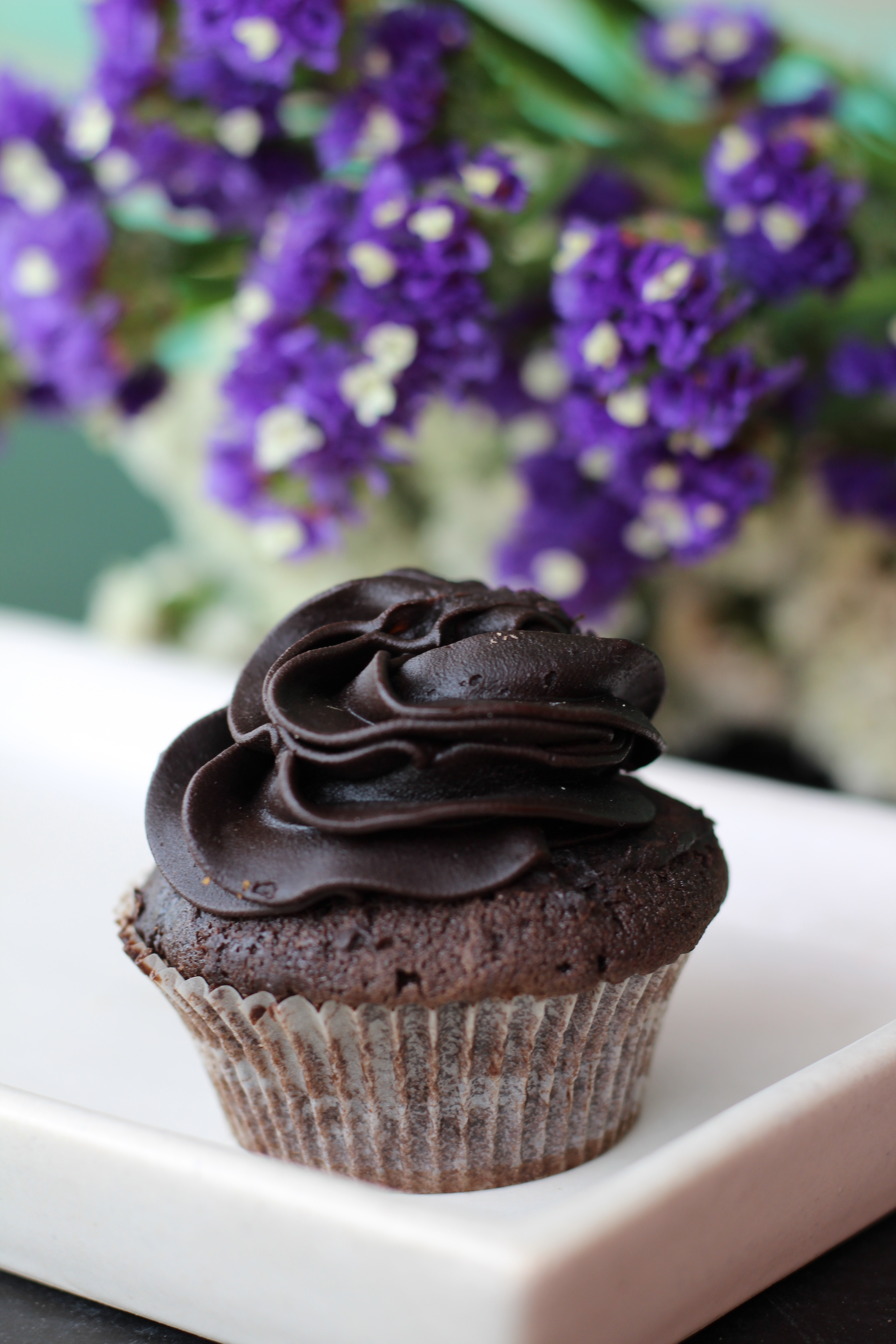 Chocolate Muffin With Chocolate Syrup 183 Free Stock Photo