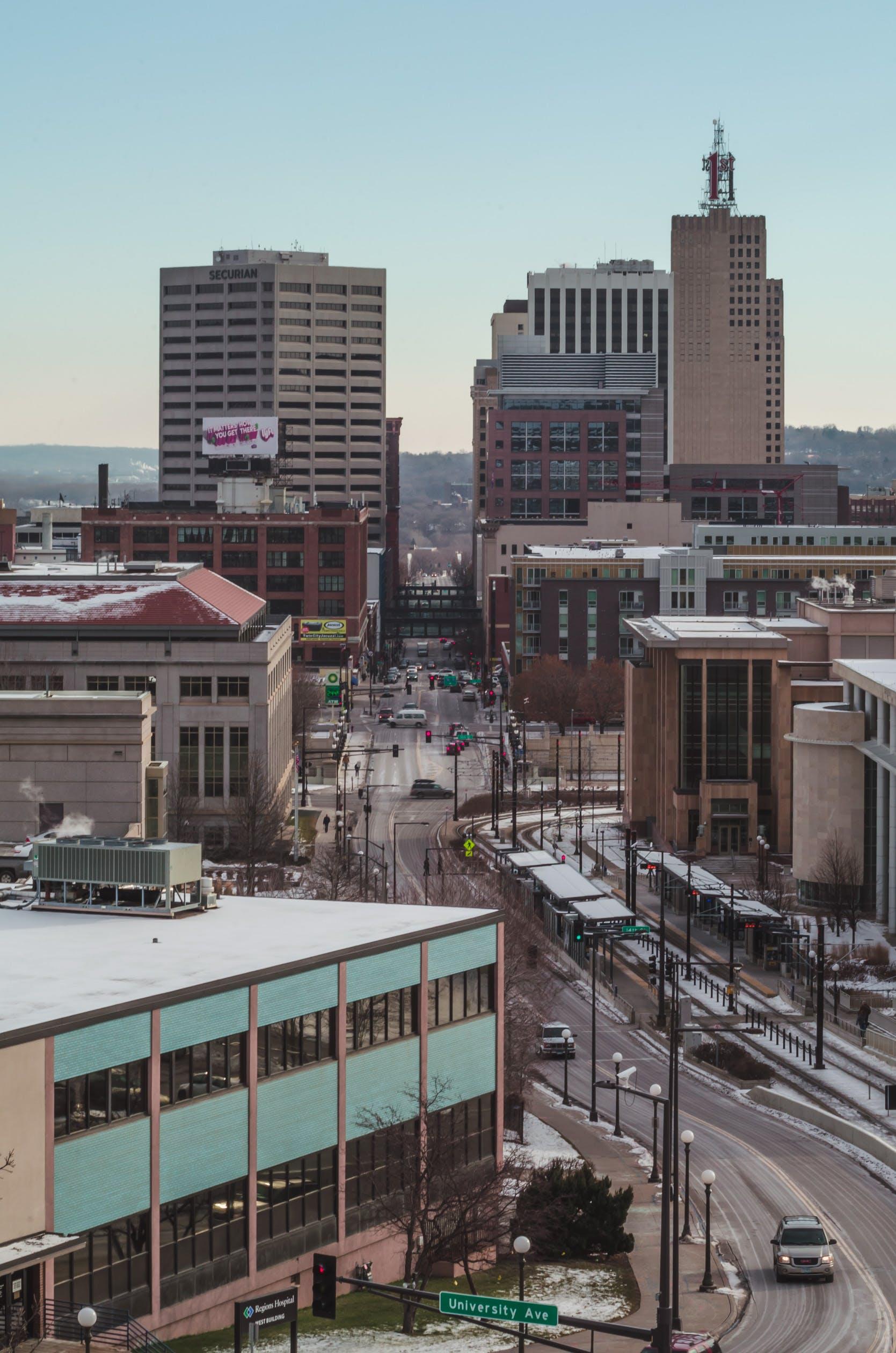 Free stock photo of cityscape, minnesota, saint paul, sunrise