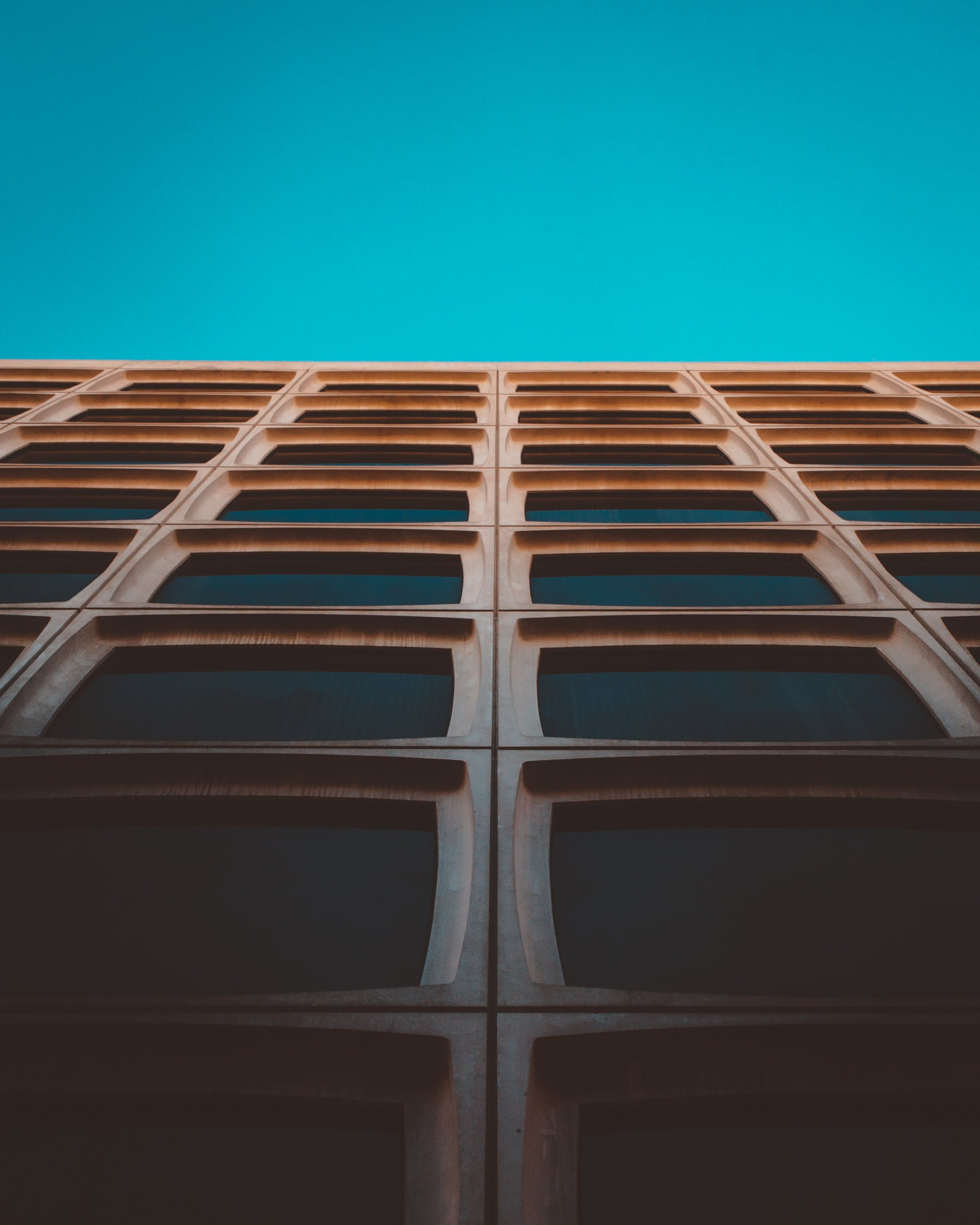 Brown Wooden Frames With Teal Background