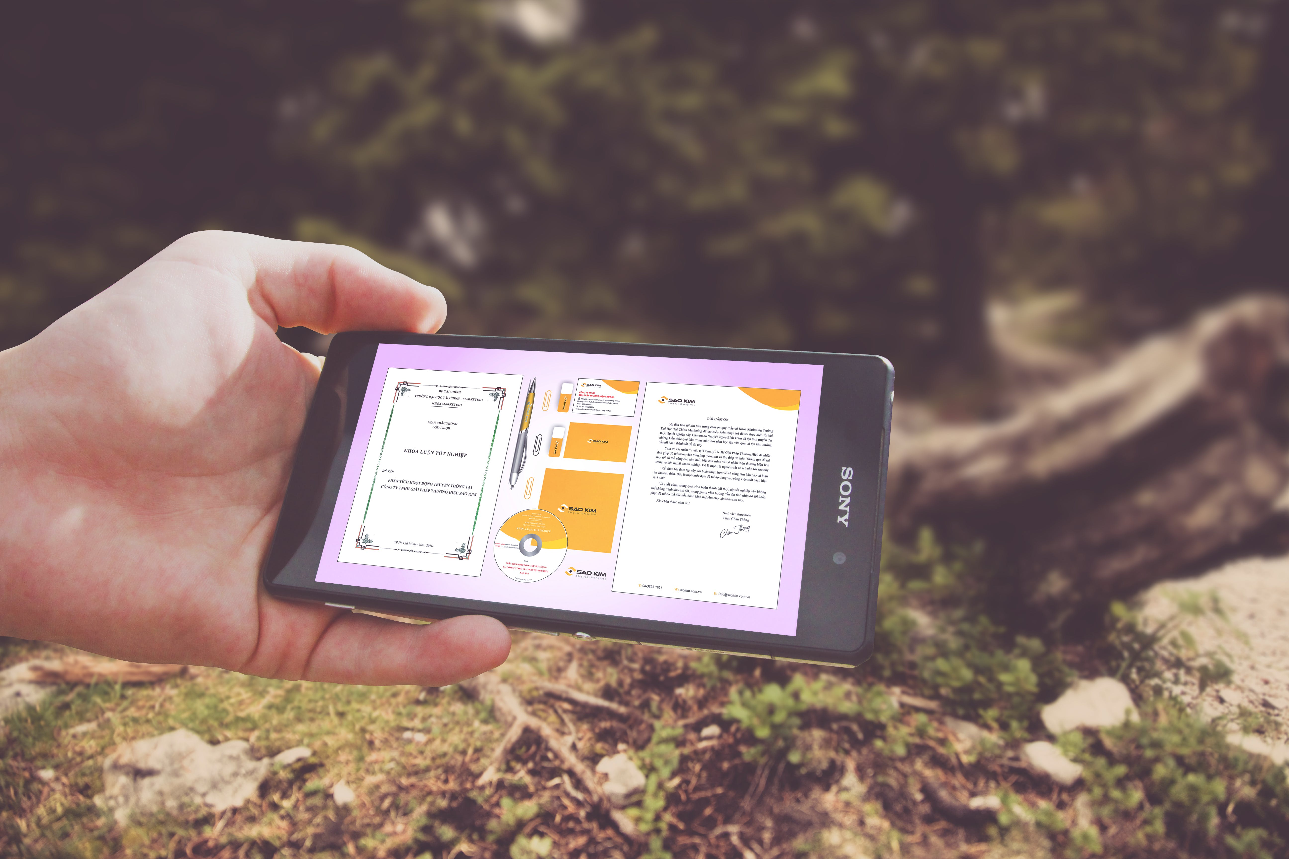 Kostenloses Stock Foto zu hand, handy, smartphone, sony