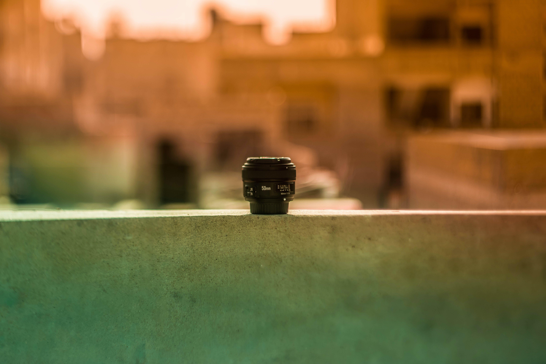 Close Up Photo of Telephoto Lens