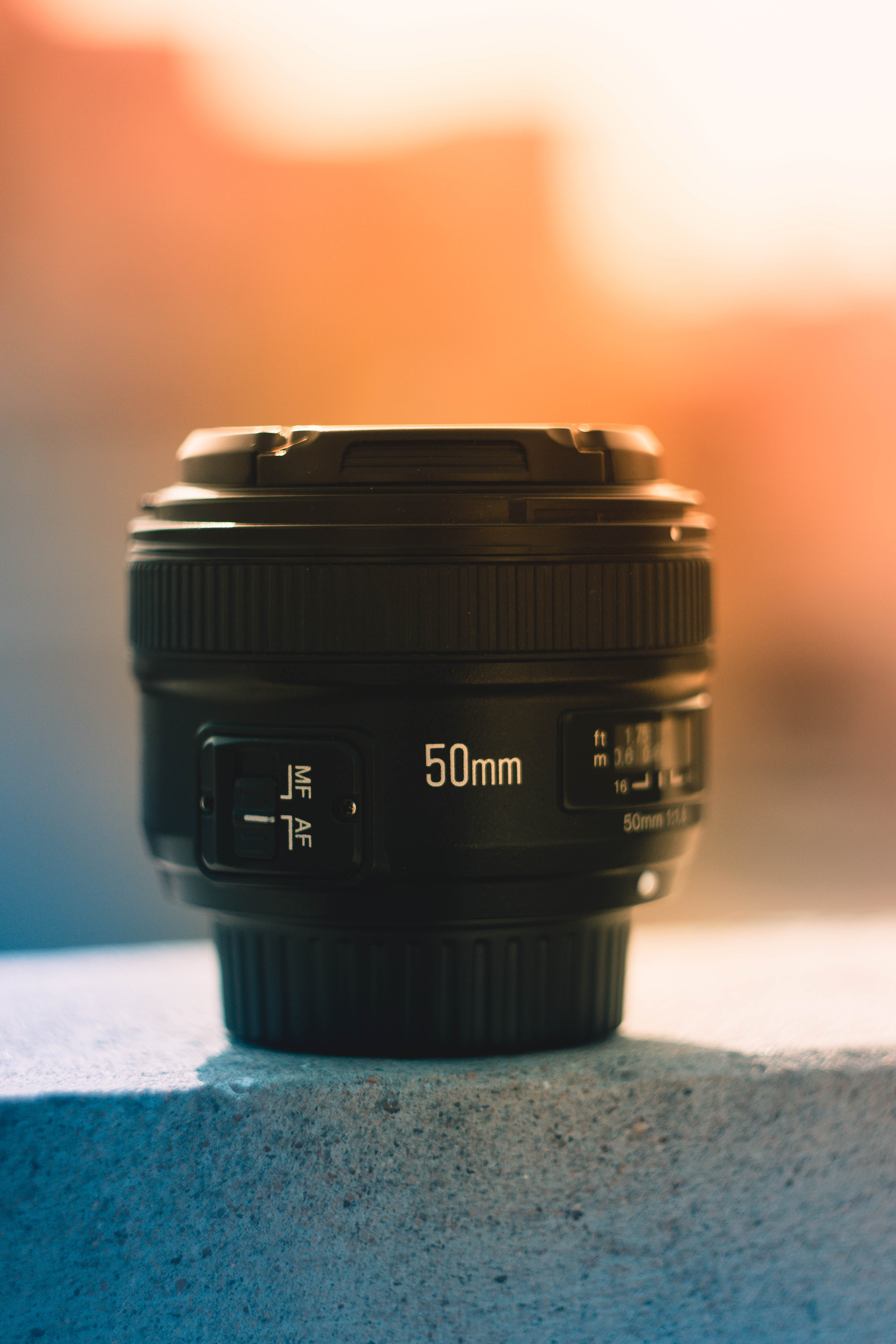 50 Mm Black Dslr Camera Lens