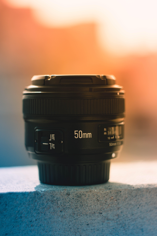 50 Mm Black Dslr Camera Lens