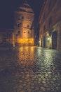 lights, night, street