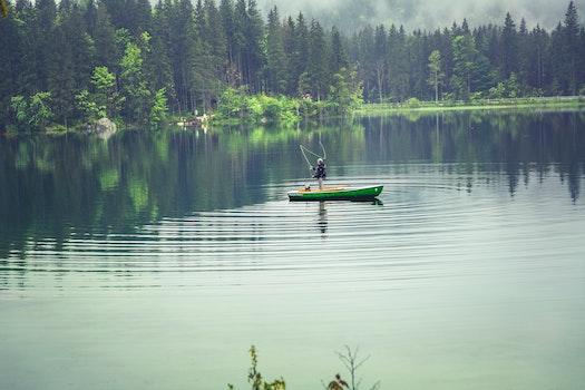 Kostenloses Stock Foto zu angeln, berge, natur, wasser