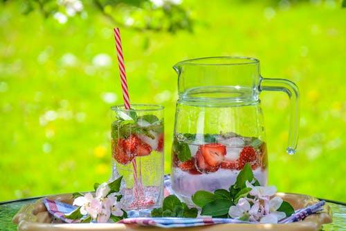 bardak, buz, cam, Çiçekler içeren Ücretsiz stok fotoğraf