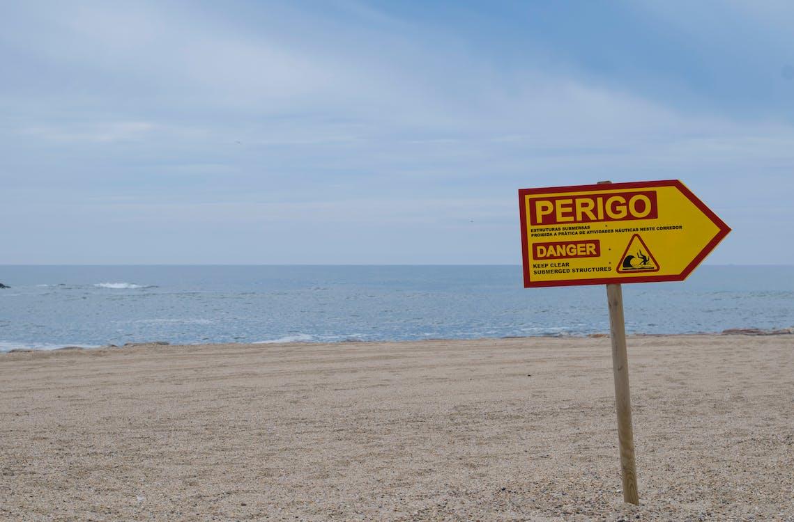 κίνδυνος, παραλία, Πορτογαλία